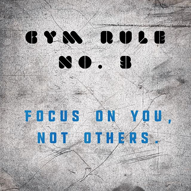 Our third and final gym rule: focus on yourself. It doesn't matter what the other members are lifting, how many rounds they've done, or if their technique looks different to yours. There's only one person you need to focus on, and that's you. Sure, we encourage a friendly level of competitiveness in our workouts, but not at the cost of technique or self-esteem. Make sure you're doing your best and let others worry about themselves. #fitness #wearetheunit #personaltrainer #cardio #conditioning #strength #mindset #rules #coach