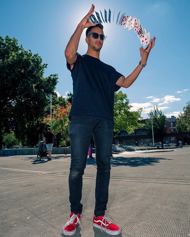If Cardistry had a magazine, this would be the cover. Had a blast shooting @notseano last year and can't wait to shoot everyone at this years @cardistrycon! 📸