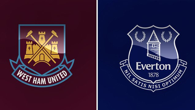 West Ham Uninted vs Everton pada tanggal 22 April 2017