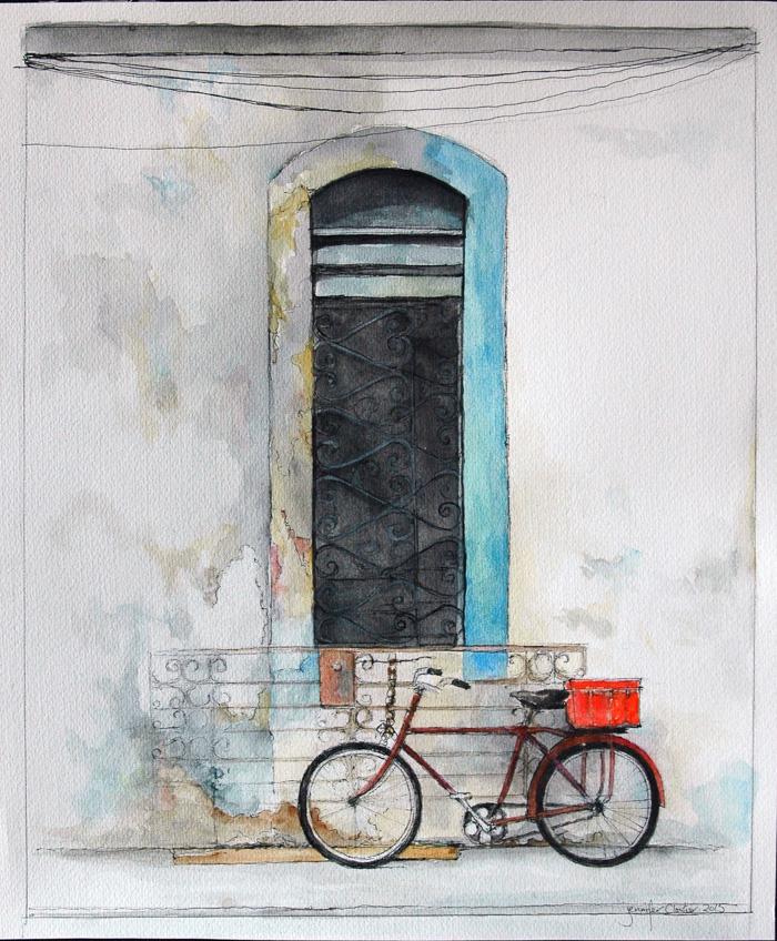 """Havana , Cuba, 11""""x13.5in , Pen&Ink, 2015"""