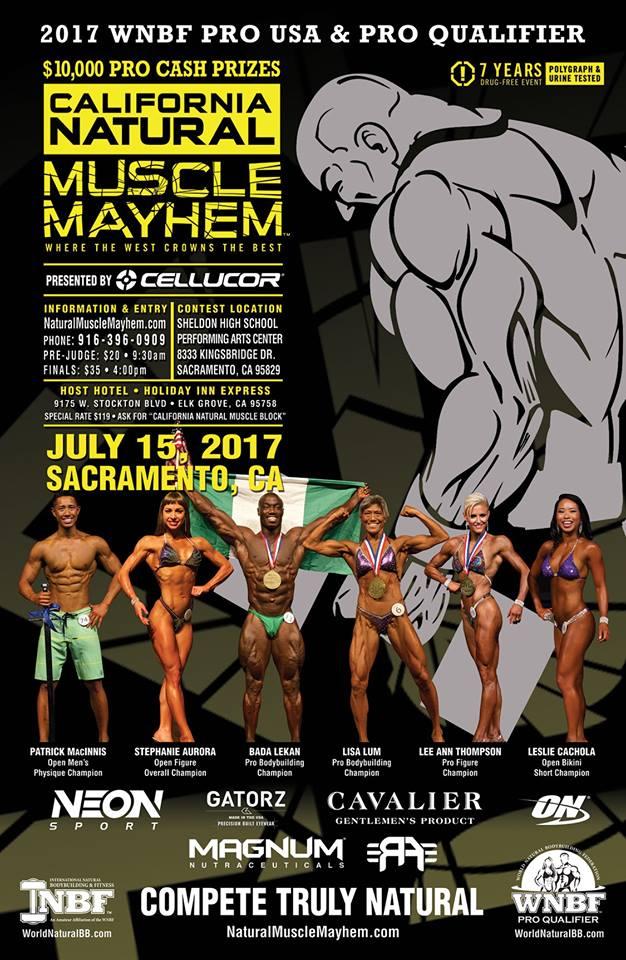 2017 WNBF PRO USA's & California Natural Muscle Mayhem