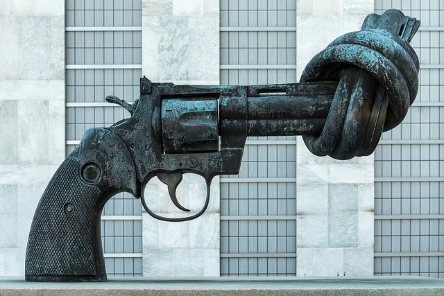 """""""Non-violence,""""  by Flickr user  Giorgio Galeotti (CC BY-SA 2.0  license )."""