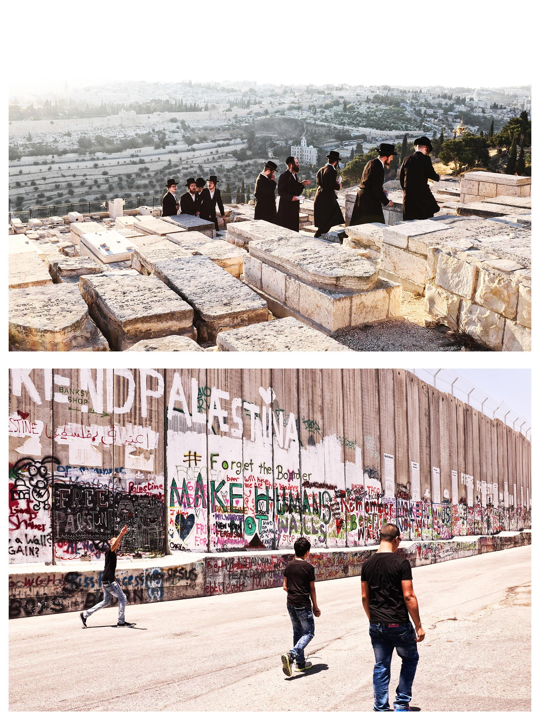 #au milieu un mur 1. Jérusalem / Béthléem