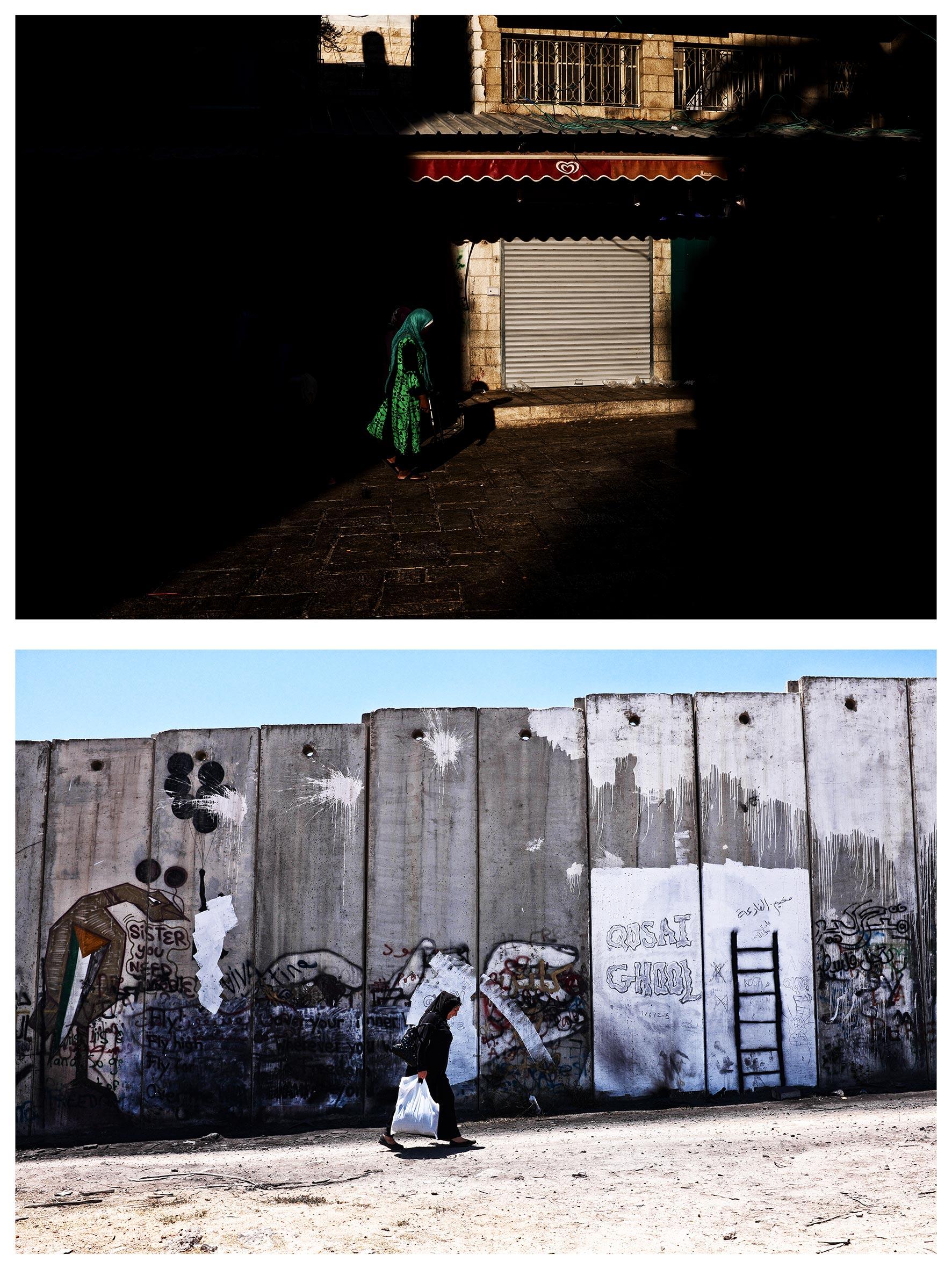 #au milieu un mur 2. Jérusalem / Ramallah