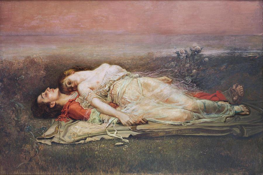 Tristan and Isolde by Regelio de Egusquiza, 1910