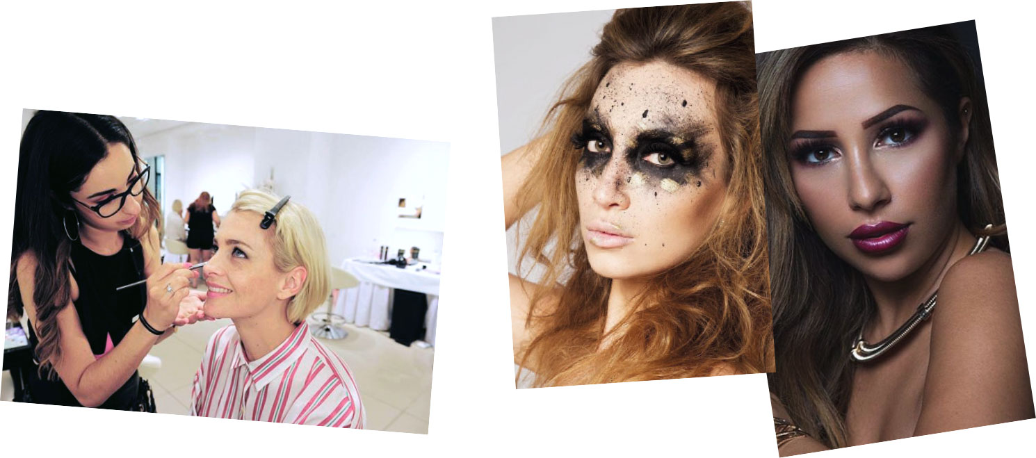 Make-up Artist Rosa schminkt bei Event