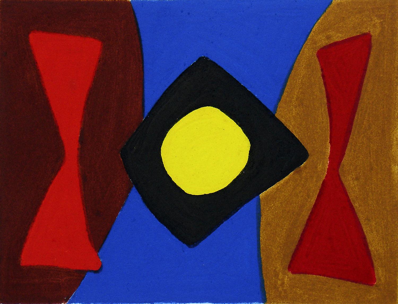 John McLean, Claikie    Date:  2008   Size (cm - unframed):  30 x 26   Technique:  7 colour carbondum   Materials:  Moulin Du Gue 300gsm   Edition size:  10   Publisher:  The Print Studio   Copyright:  The Artist    P.O.A.