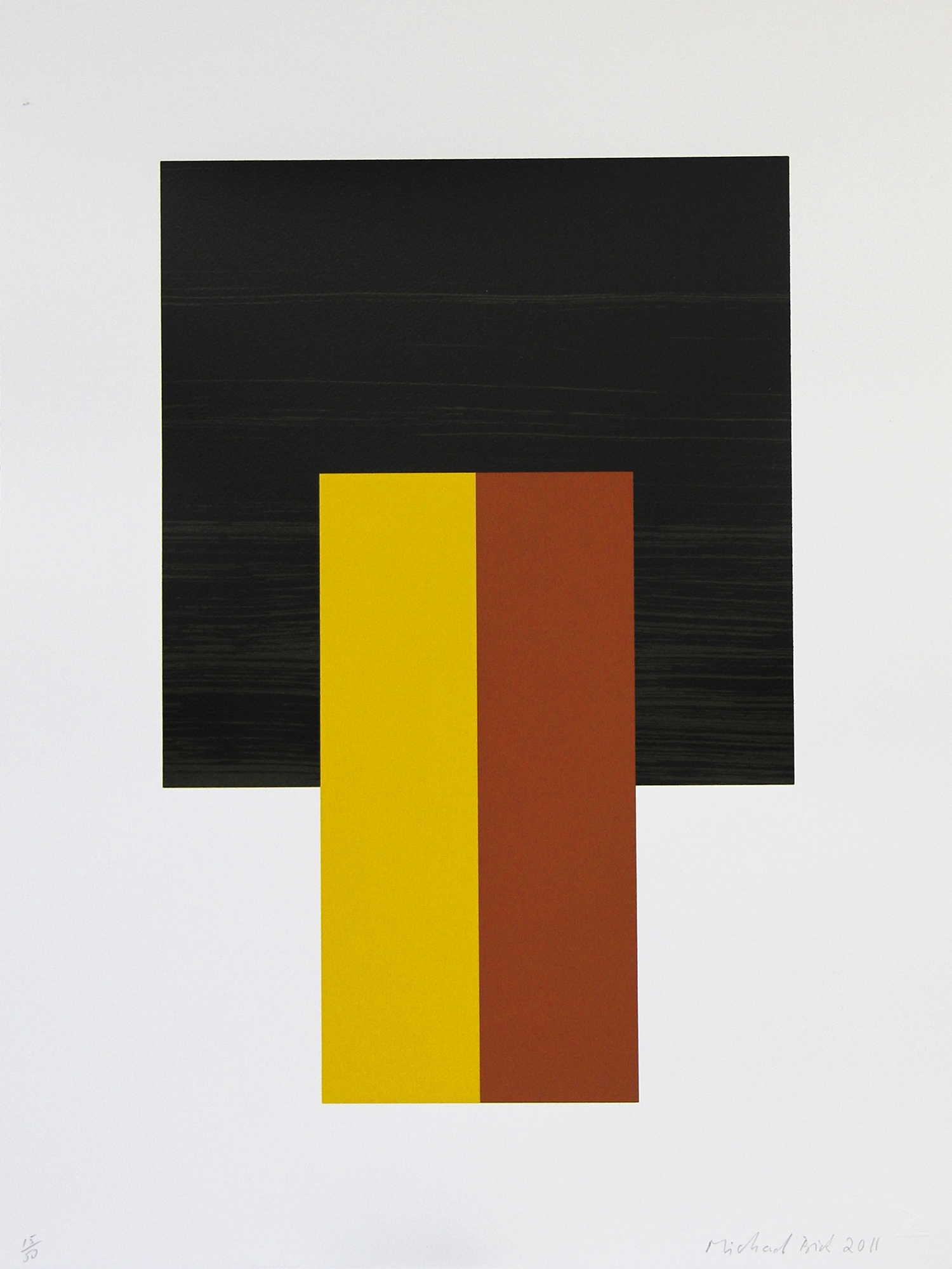 Michael Brick, Double Earth    Date:  2012   Size (cm - unframed):  65 x 49   Technique:  Screenprint   Materials:  Somerset Velvet 300gsm   Edition size:  50   Publisher:  The Print Studio   Copyright:  The Artist     P.O.A.