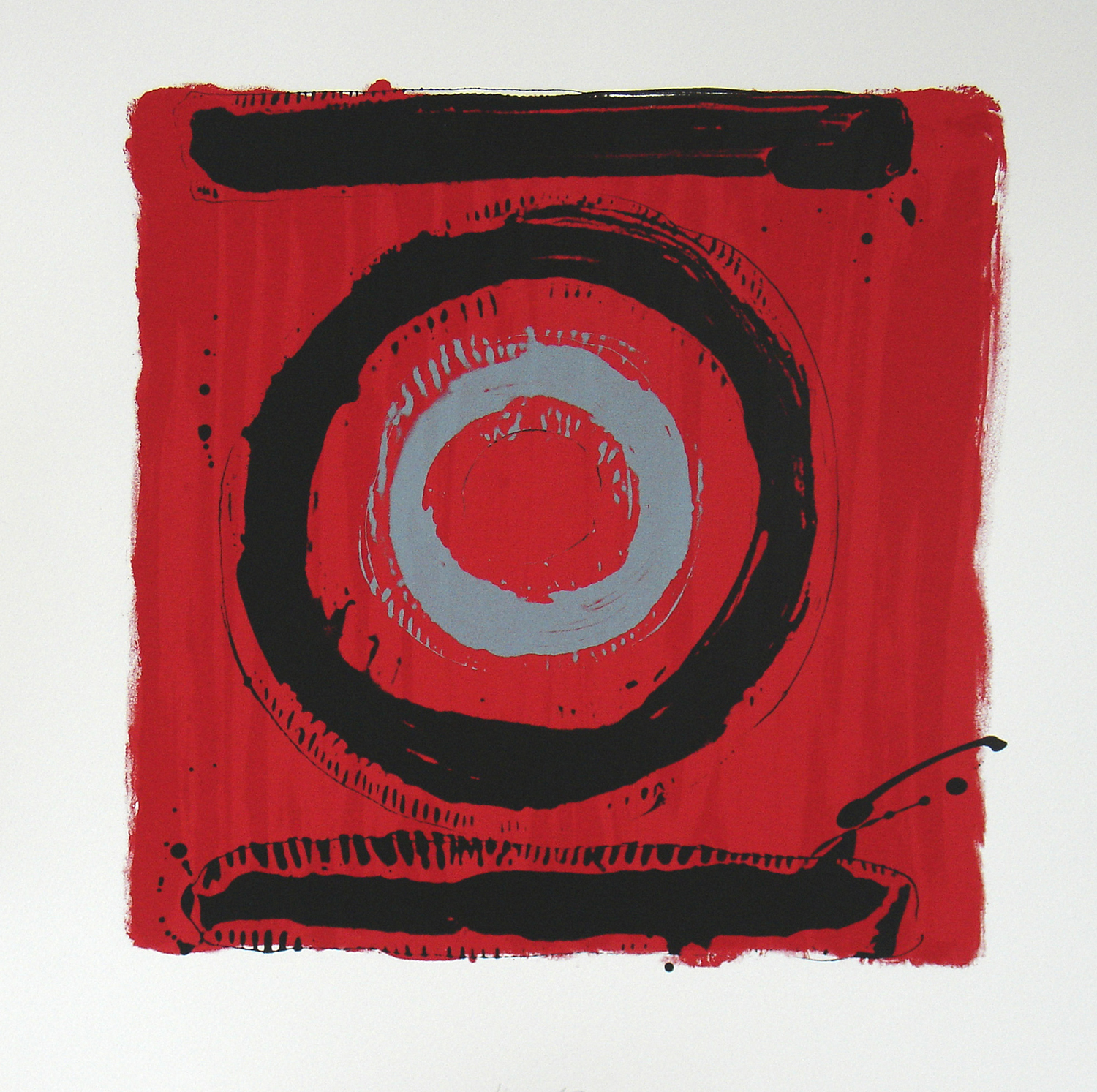 Kip Gresham, Two Loops    Date:   2006   Size (cm - unframed):   56 x 55   Technique:   Screenprint   Materials:   Somerset 300gsm   Edition size:   10   Publisher:   The Print Studio   Copyright:   The Artist    P.O.A.
