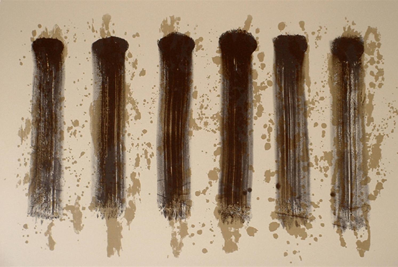Kip Gresham, 6 x 1    Date:  2004   Size (cm - unframed):  76 x 112   Technique:  Screenprint   Materials:  Somerset Cream 300gsm   Edition size:  10   Publisher:  The Print Studio   Copyright:  The Artist    P.O.A.