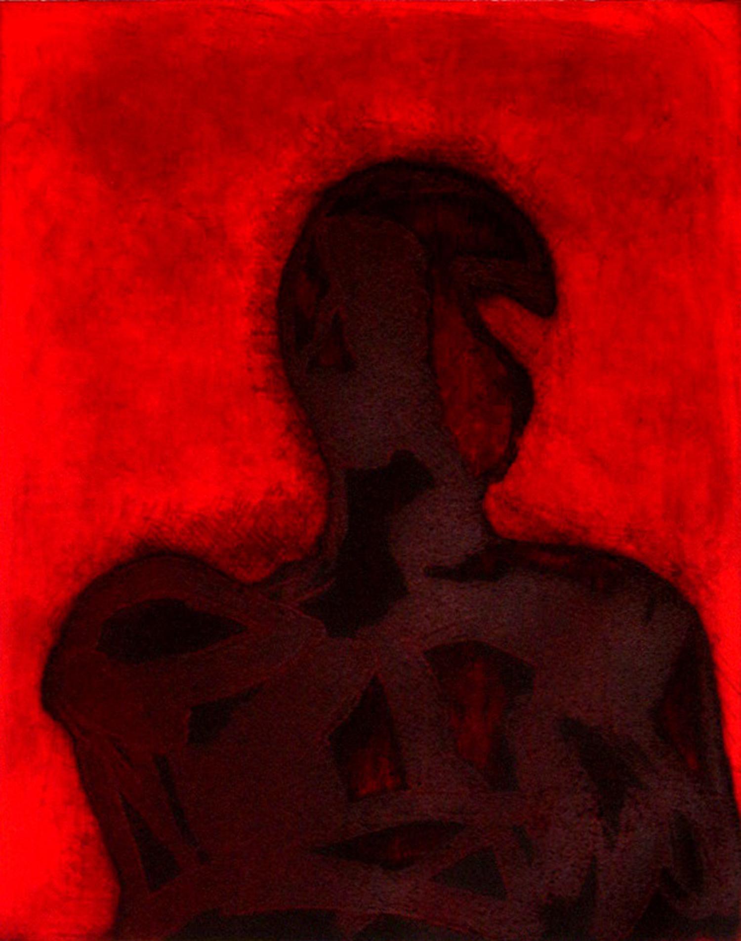 Peter Griffin, Red Carborundum    Date:  2007   Size (cm - unframed):  76 x 55   Technique:  Carborundum Etching & Screenprint   Materials:  Moulin Du Gue 300gsm   Edition size:  12   Publisher:  The Artist   Copyright:  The Artist    P.O.A.