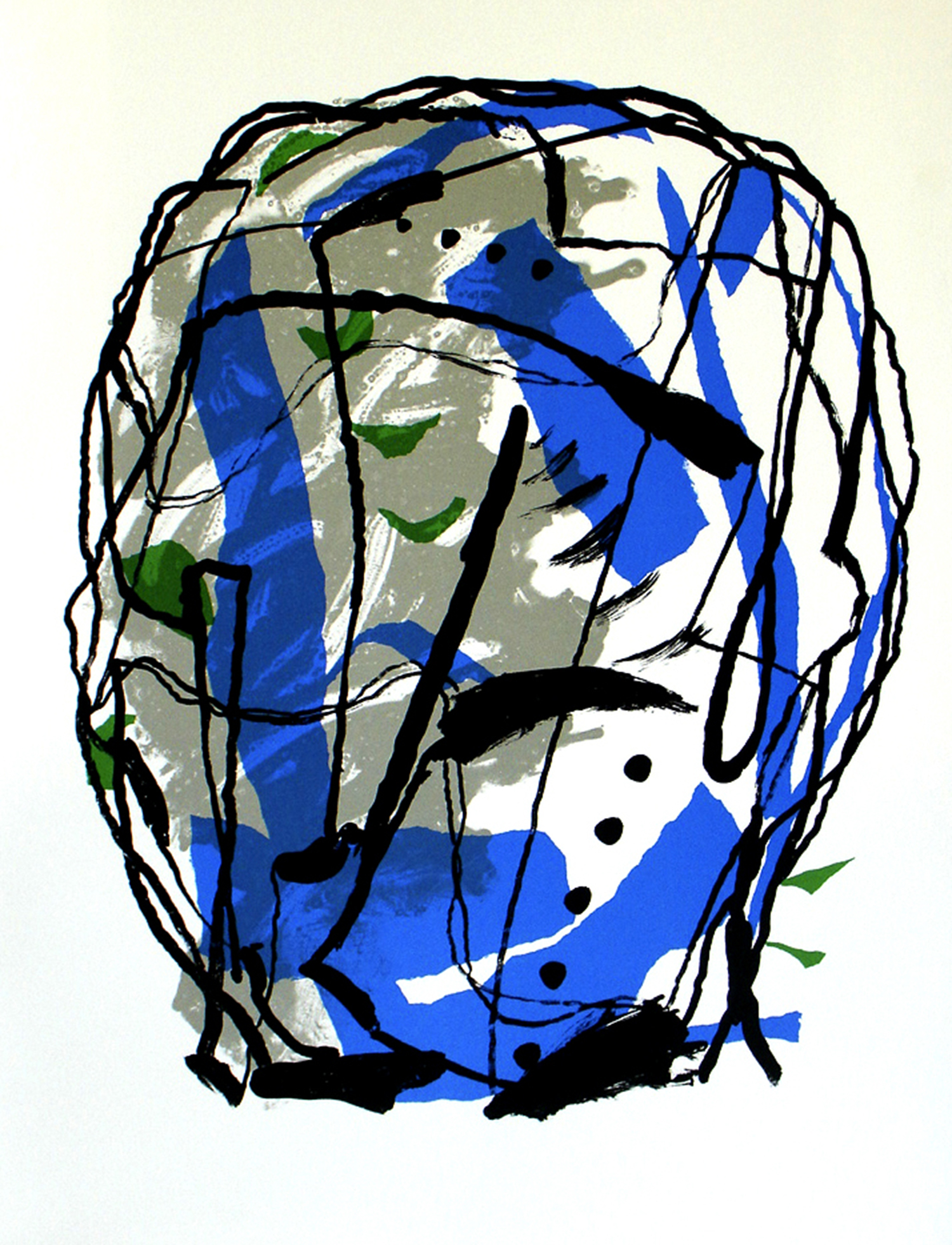 Peter Griffin, Big Head 2    Date:  2007   Size (cm - unframed):  99 x 75   Technique:  Screenprint   Materials:  Somerset Satin 300gsm   Publisher:  The Artist   Copyright:  The Artist    P.O.A.