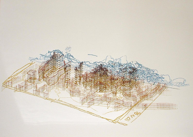 Claude Heath, Quarry    Date:  2003   Size (cm - unframed):  89 x 119   Technique:  Mono   Materials:  Velin Arches Blanc paper   Edition size:  1   Copyright:  The Artist    P.O.A.
