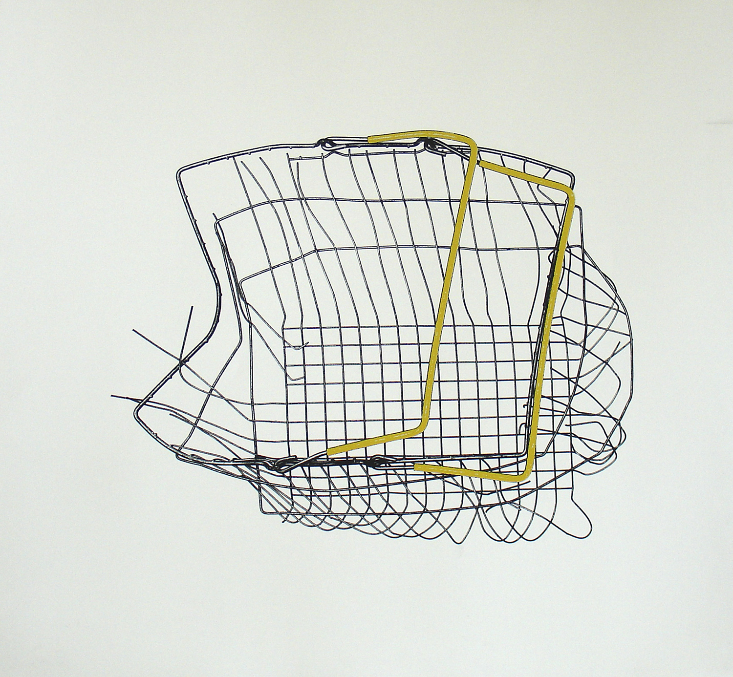 Loukas Morley, Basket Amber    Date:  2011   Size (cm - unframed):  77 x 85 cm   Technique:  Screenprint   Materials:  Heritage 300gsm   Edition size:  25   Publisher:  The Artist & The Print Studio   Copyright:  The Artist    P.O.A.
