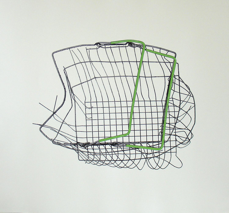 Loukas Morley, Basket Blue    Date:  2011    Size (cm - unframed):  77 x 85 cm   Technique:  Screenprint   Materials:  Heritage 300gsm   Edition size:  25   Publisher:  The Artist & The Print Studio   Copyright:  The Artist     P.O.A.