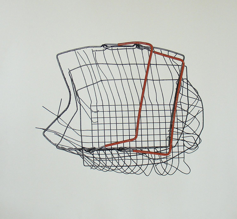 Loukas Morley, Basket Orange    Date:  2011   Size (cm - unframed):  77 x 85 cm   Technique:  Screenprint   Materials:  Heritage 300gsm   Edition size:  25   Publisher:  The Artist & The Print Studio   Copyright:  The Artist     P.O.A.