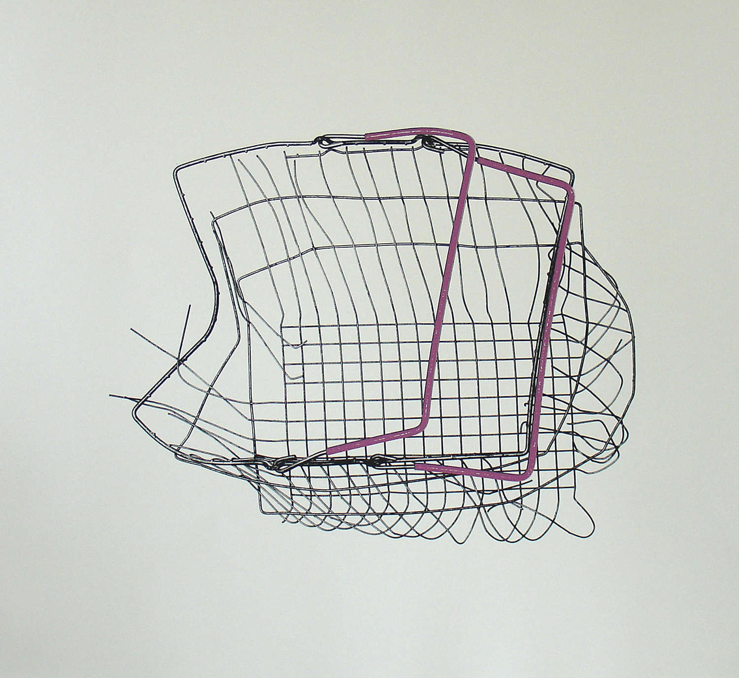 Loukas Morley, Basket Lilac    Date:  2011   Size (cm - unframed):  77 x 85 cm   Technique:  Screenprint   Materials:  Heritage 300gsm   Edition size:  25   Publisher:  The Artist & The Print Studio   Copyright:  The Artist     P.O.A.