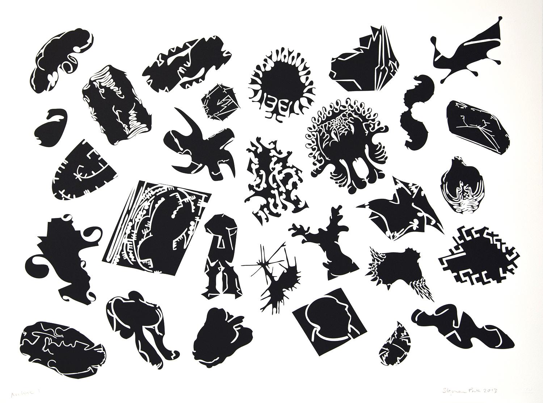 Stephen Park, Shameless    Date:  2013   Size (cm - unframed): 57 x 76  Technique:  Screenprint   Materials:  Somerset UK Textured 300gsm   Edition size:  30   Publisher:  The Print Studio   Copyright:  The Artist    P.O.A.