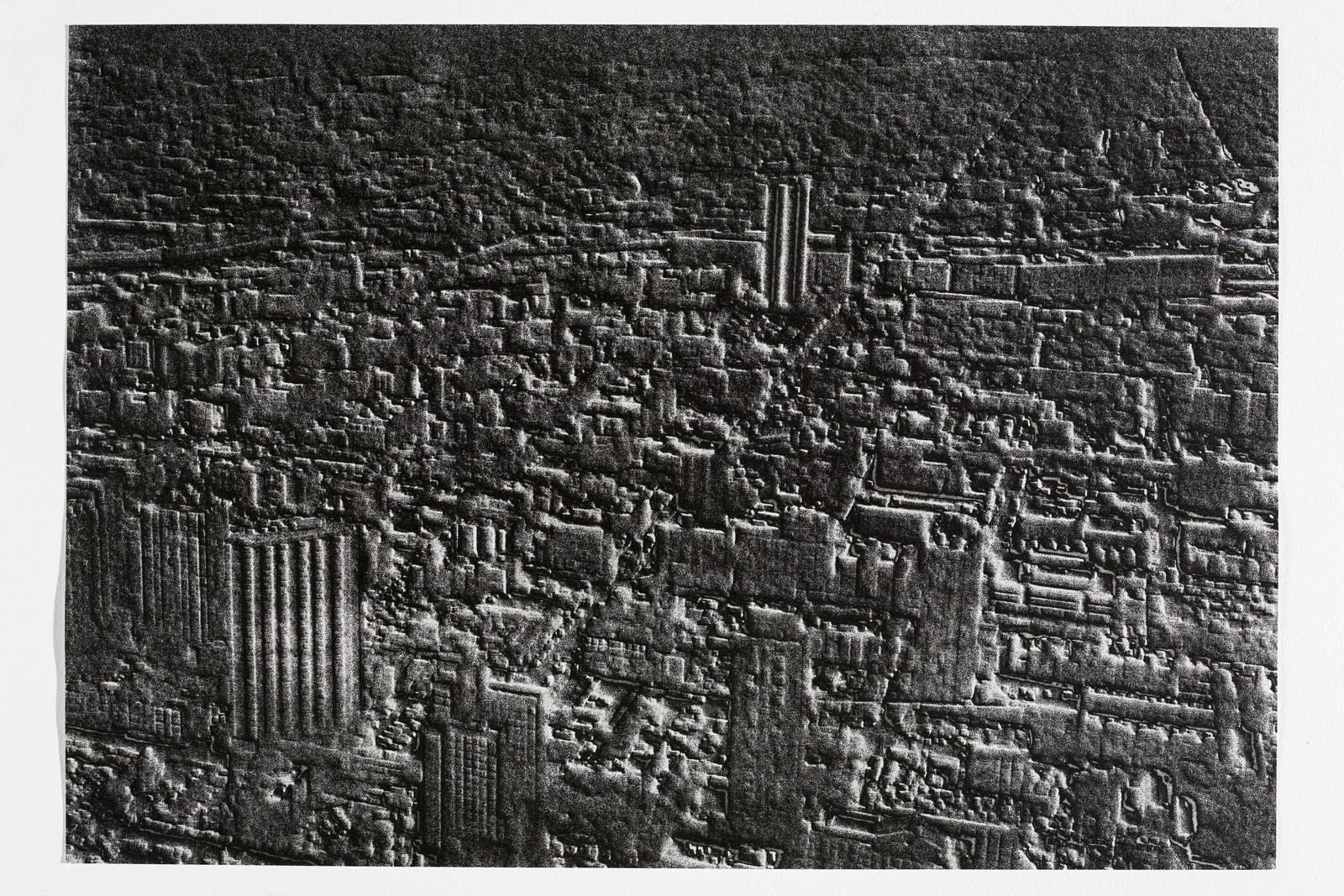 Jane Dixon, Regeneration II (Chicago)    Date:  2007   Size (cm - unframed):  40.5 x 58.5cm  Technique:  Etching   Materials:  Somerset Velvet 300gm   Edition size:  20   Publisher:  The Print Studio   Copyright:  The Artist     P.O.A.