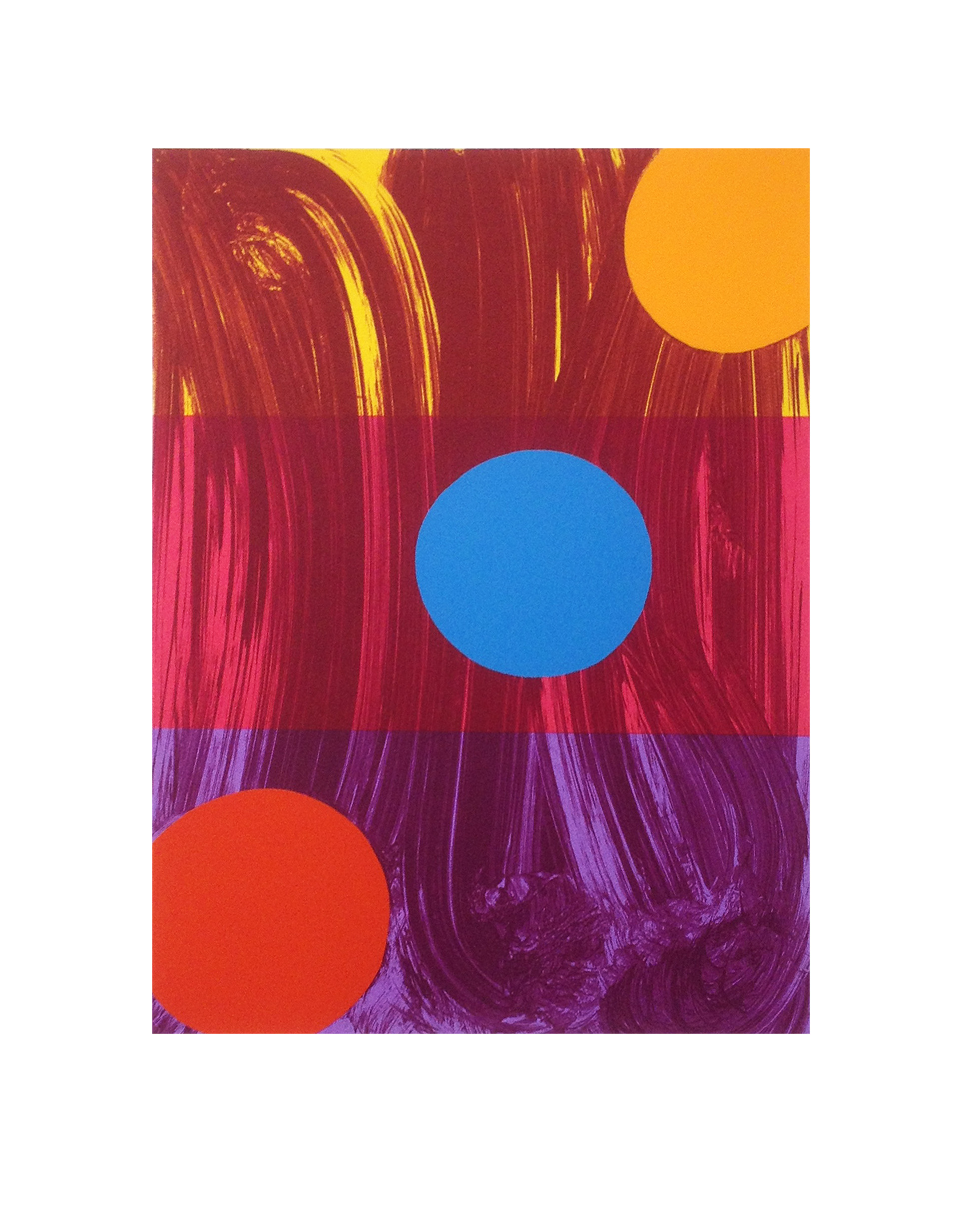 Mali Morris   RA, Centre Stage    Date:  2017   Size (cm - unframed):  61.5 x 49.5  Technique:  Screenprint   Materials:  Somerset Velvet 300gsm   Edition size:  50  Publisher:  The Print Studio   Copyright:  The Artist    P.O.A.