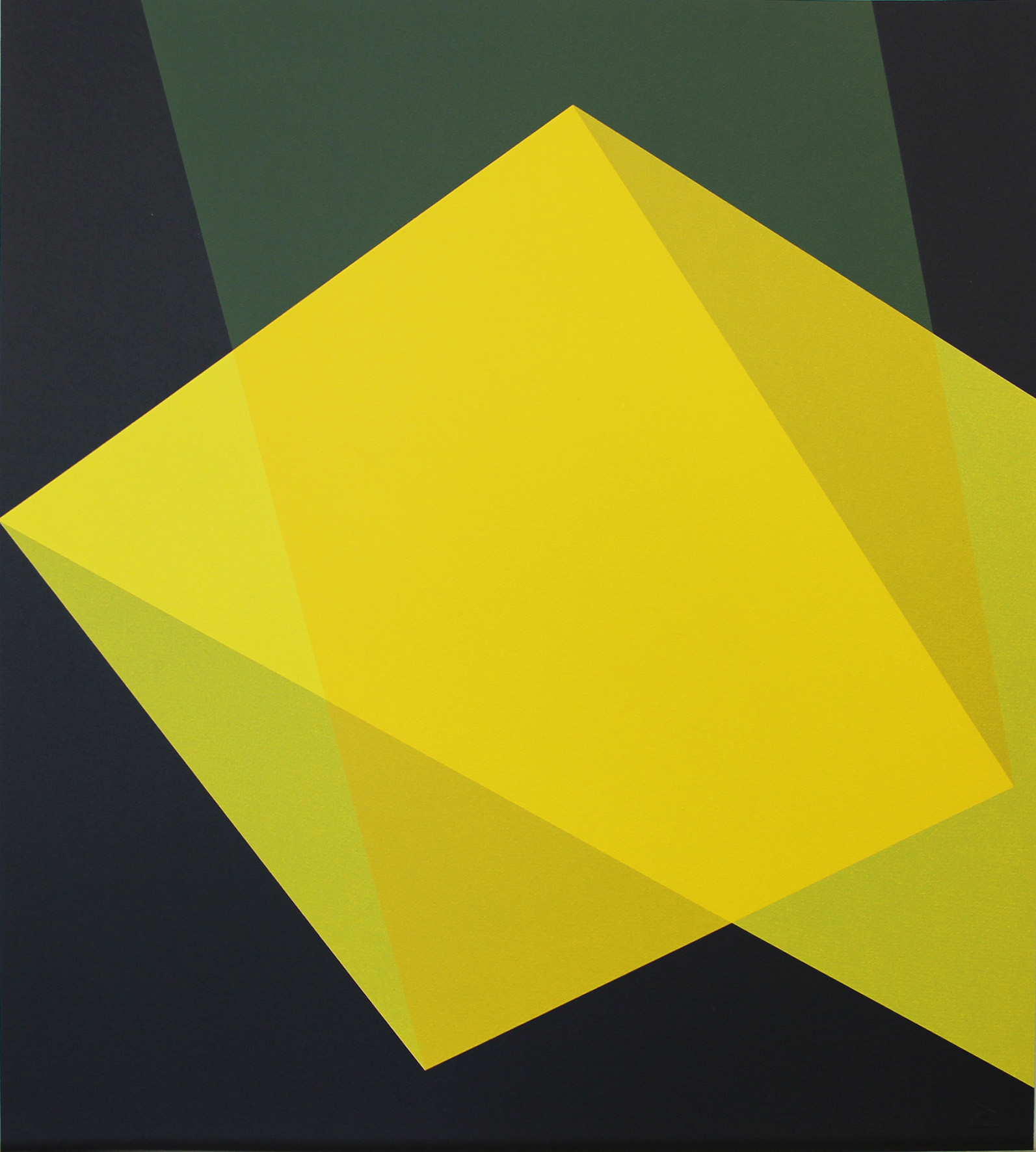 Willard Boepple, Quartet Yellow    Date:  2017  Size (cm - unframed):  56 x 62.9   Technique:  Screenprint  Materials:  Somerset Velvet 300gsm  Edition size:  20  Publisher:  The Print Studio  Copyright:  The Artist   P.O.A.