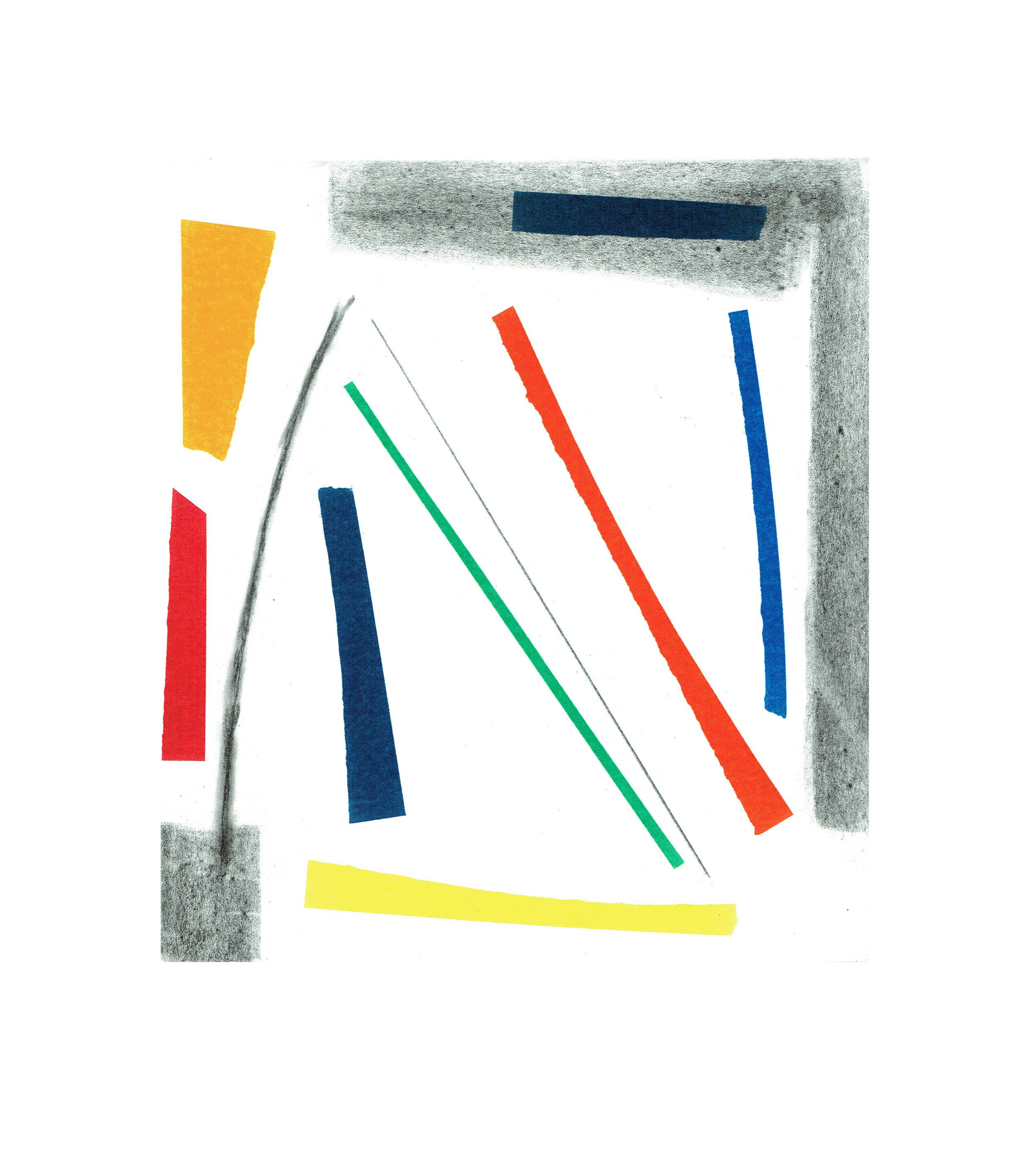 John McLean, Merry Go Round 1    Date:  2016   Size (cm - unframed):  38.2 x 34.4  Technique:   2 plate a la poupee etching   Materials:   Somerset Valvet 300gsm   Edition size:   20   Publisher:  The Print Studio   Copyright:  The Artist     POA