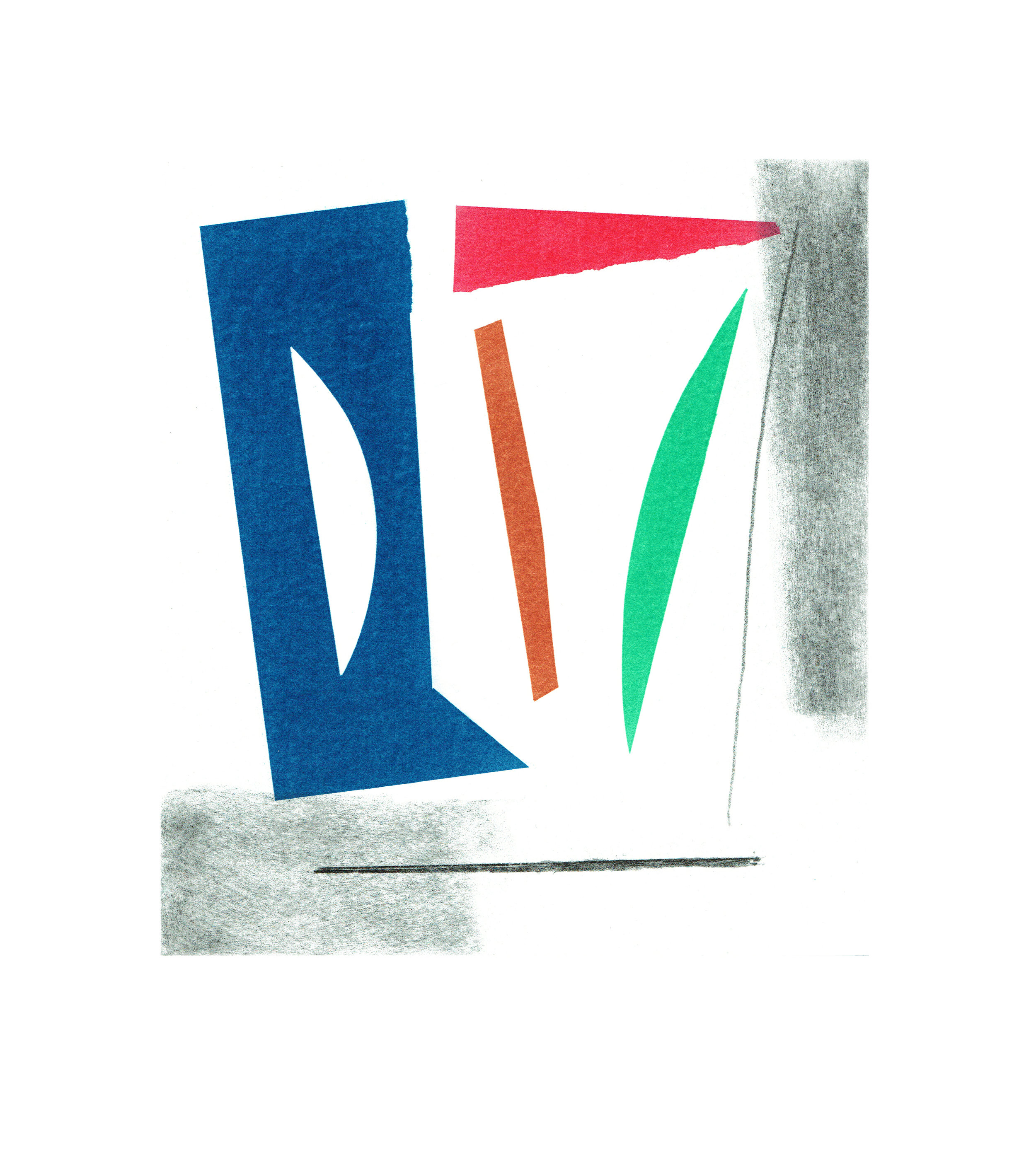 John McLean, Merry Go Round 2    Date: 2016  Size (cm - unframed):  38.2 x 34.4  Technique:  2 plate a la poupee etching  Materials:  Somerset Valvet 300gsm  Edition size:  20  Publisher: The Print Studio  Copyright: The Artist   POA