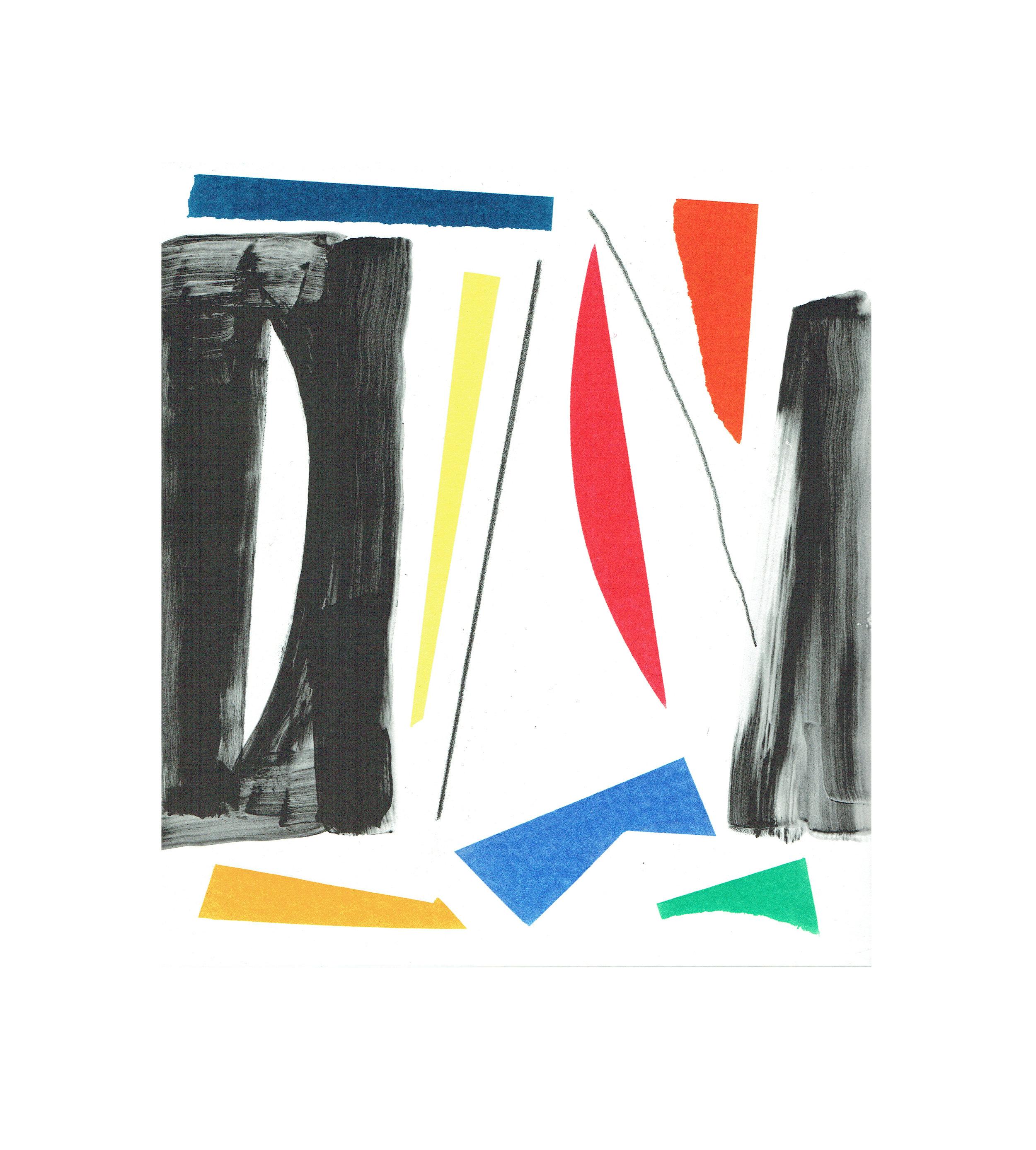 John McLean, Merry Go Round 3    Date: 2016  Size (cm - unframed):  38.2 x 34.4  Technique:  2 plate a la poupee etching  Materials:  Somerset Valvet 300gsm  Edition size:  20  Publisher: The Print Studio  Copyright: The Artist   POA