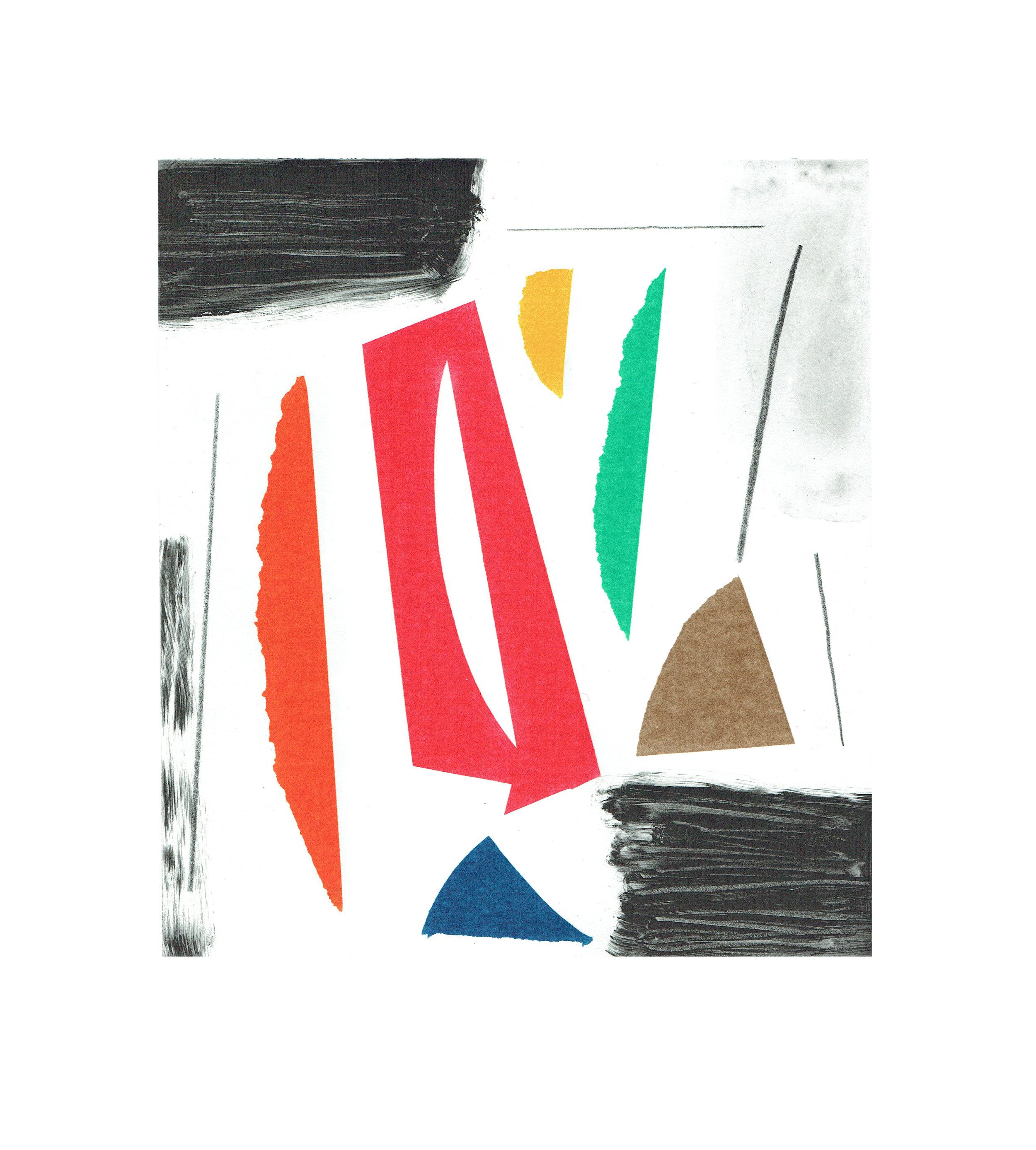 John McLean, Merry Go Round 5    Date: 2016  Size (cm - unframed):  38.2 x 34.4  Technique:  2 plate a la poupee etching  Materials:  Somerset Valvet 300gsm  Edition size:  20  Publisher: The Print Studio  Copyright: The Artist   POA