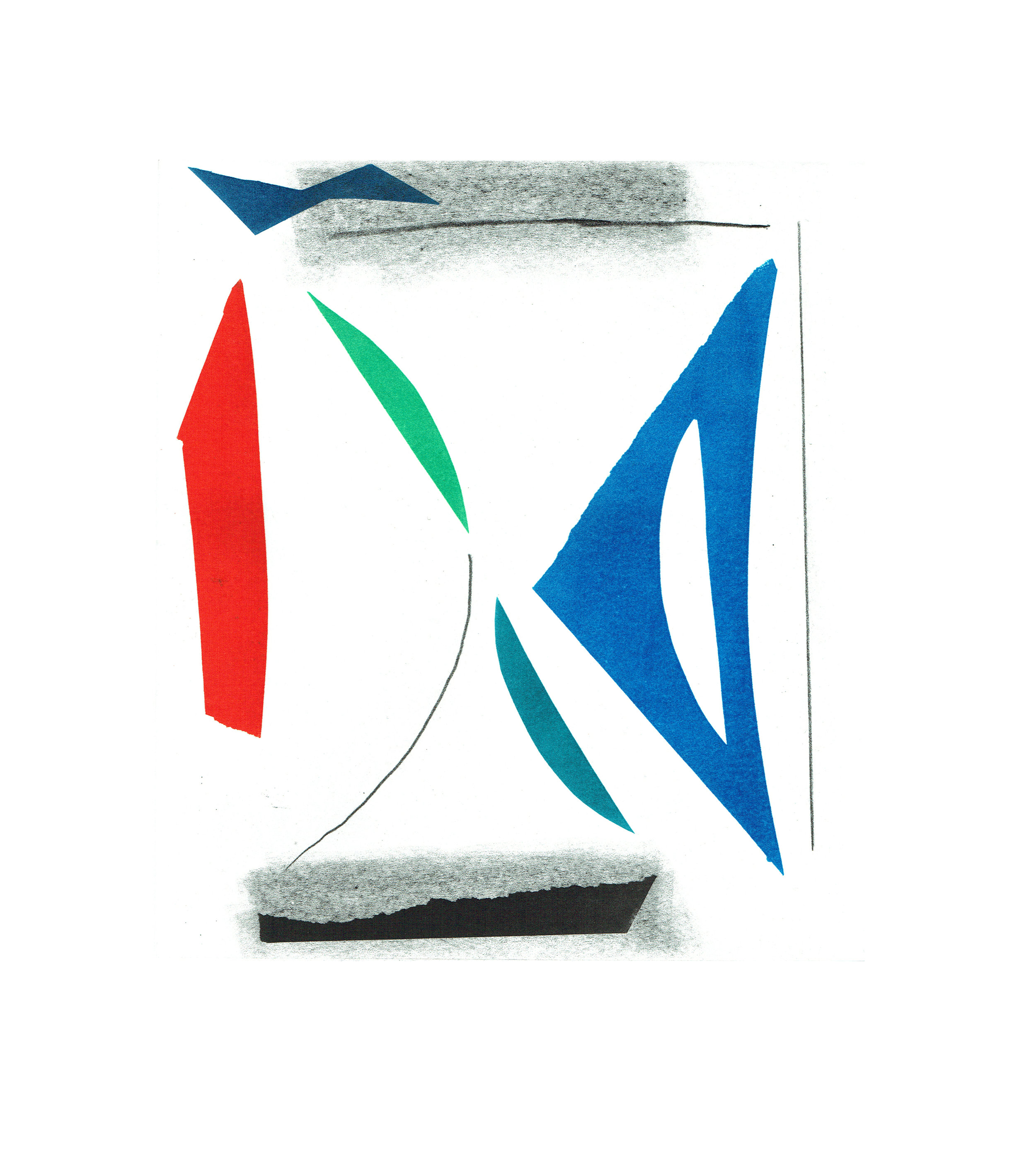 John McLean, Merry Go Round 7    Date: 2016  Size (cm - unframed):  38.2 x 34.4  Technique:  2 plate a la poupee etching  Materials:  Somerset Valvet 300gsm  Edition size:  20  Publisher: The Print Studio  Copyright: The Artist   POA