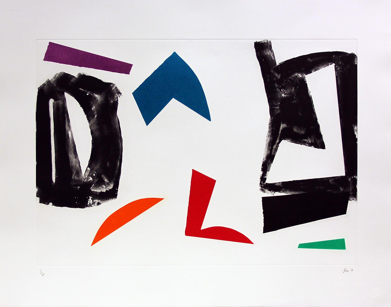 John McLean, Untitled 2017    Date: 2017  Size (cm - unframed): 57 x 73  Technique:  2 plate a la poupee etching  Materials:  Somerset Valvet 300gsm  Edition size:  20  Publisher: The Print Studio  Copyright: The Artist   POA
