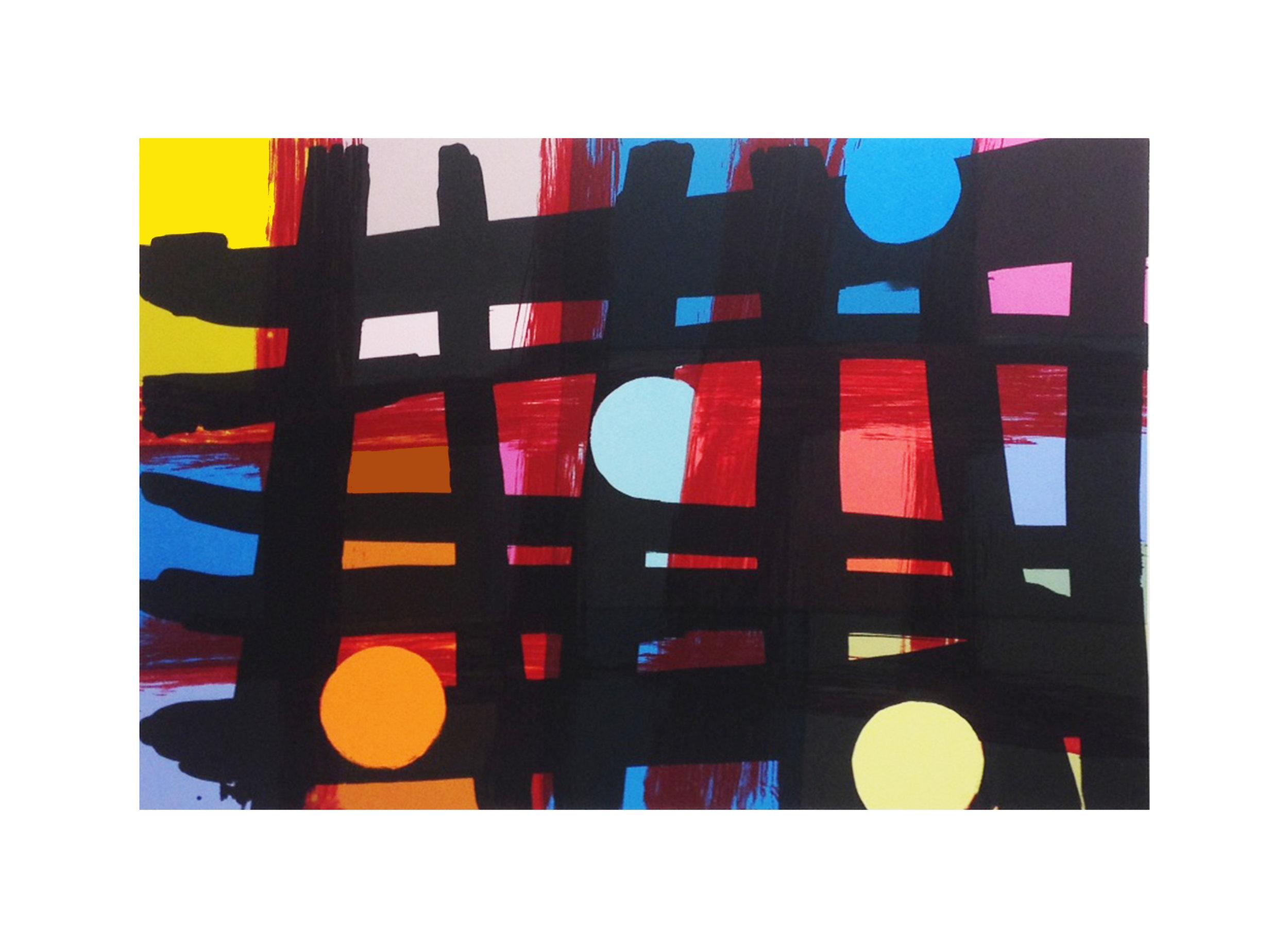 Mali Morris   RA, Staith    Date: 2018  Size (cm - unframed): 55.5 x 73.5 cm  Technique: Screenprint  Materials: Somerset Velvet 300gsm  Edition size: 30  Publisher: The Print Studio  Copyright: The Artist   P.O.A