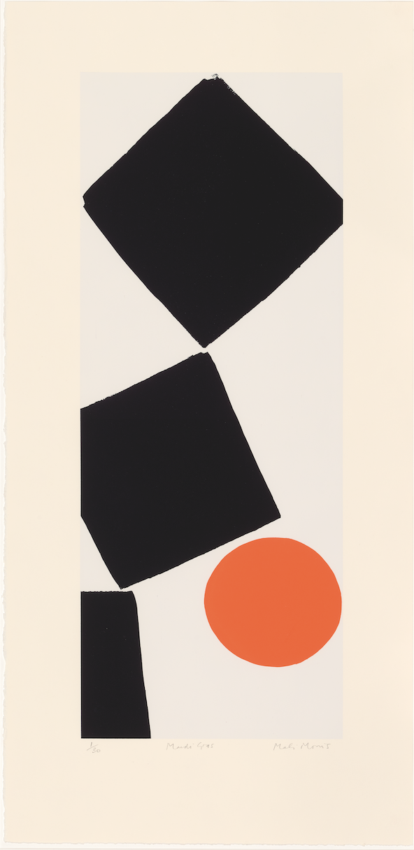 Mali Morris RA, Mardi Gras    Date:  2019  Size (cm - unframed):  96 x 46  Technique:  Screenprint  Materials:  Somerset Velvet 300gsm  Edition size:  30  Publisher:  The Print Studio  Copyright:  The Artist   SOLD OUT
