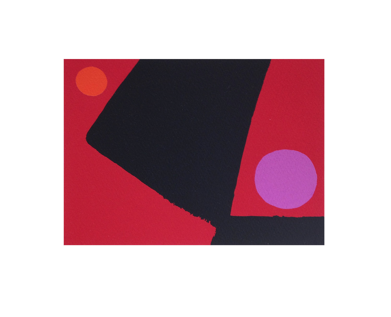 Mali Morris RA, Called    Date:  2018   Size (cm - unframed): 23 x 28   Technique:  Screenprint  Materials:  Somerset Velvet Soft White 300gsm  Edition size:  50  Publisher:  The Print Studio  Copyright:  The Artist  P.O.A.