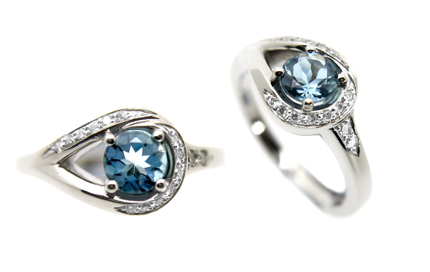 Bespoke Jewellery - Unique Engagement Ring Aquamarine Diamonds