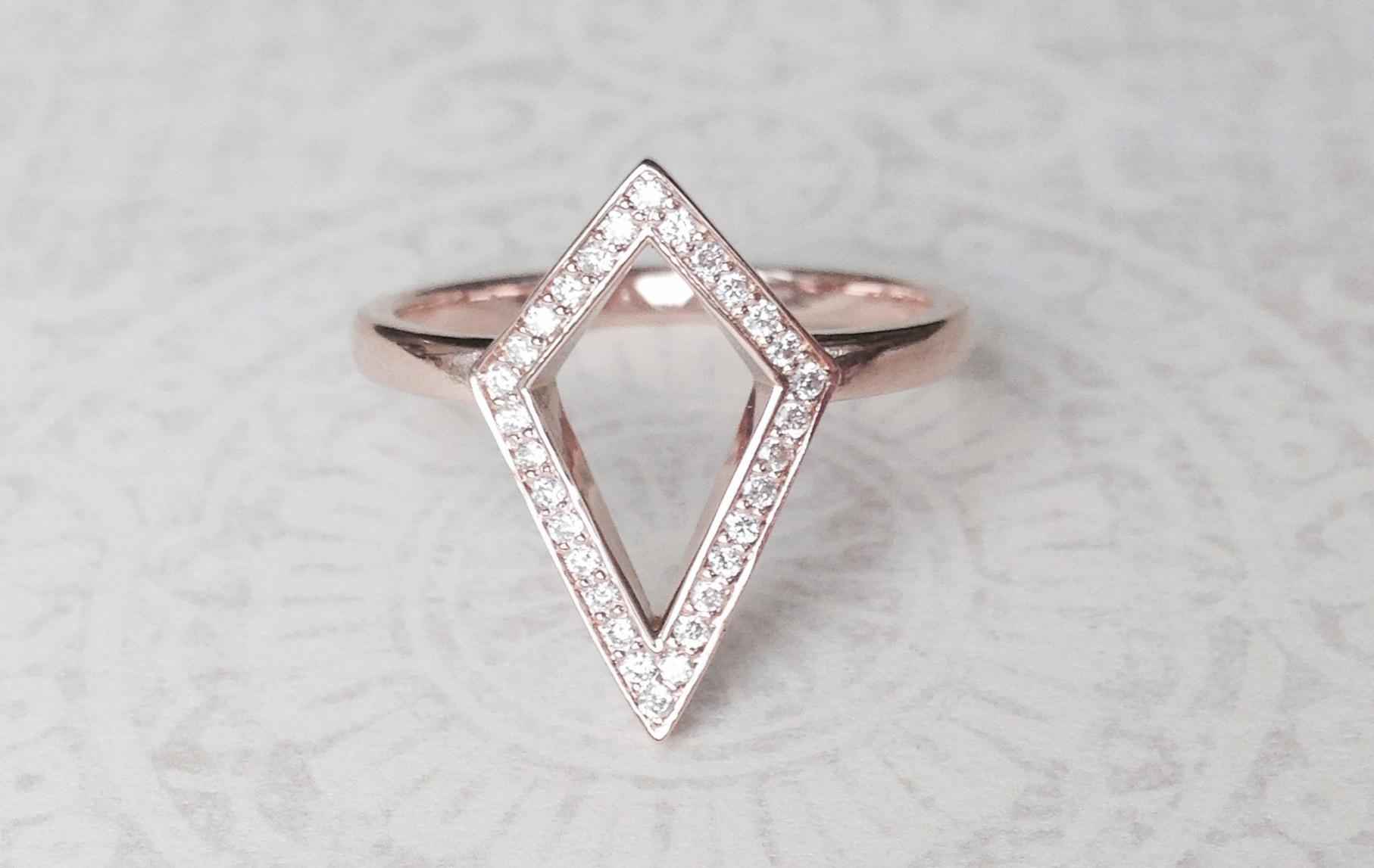Bespoke Jewellery - rose gold kite ring