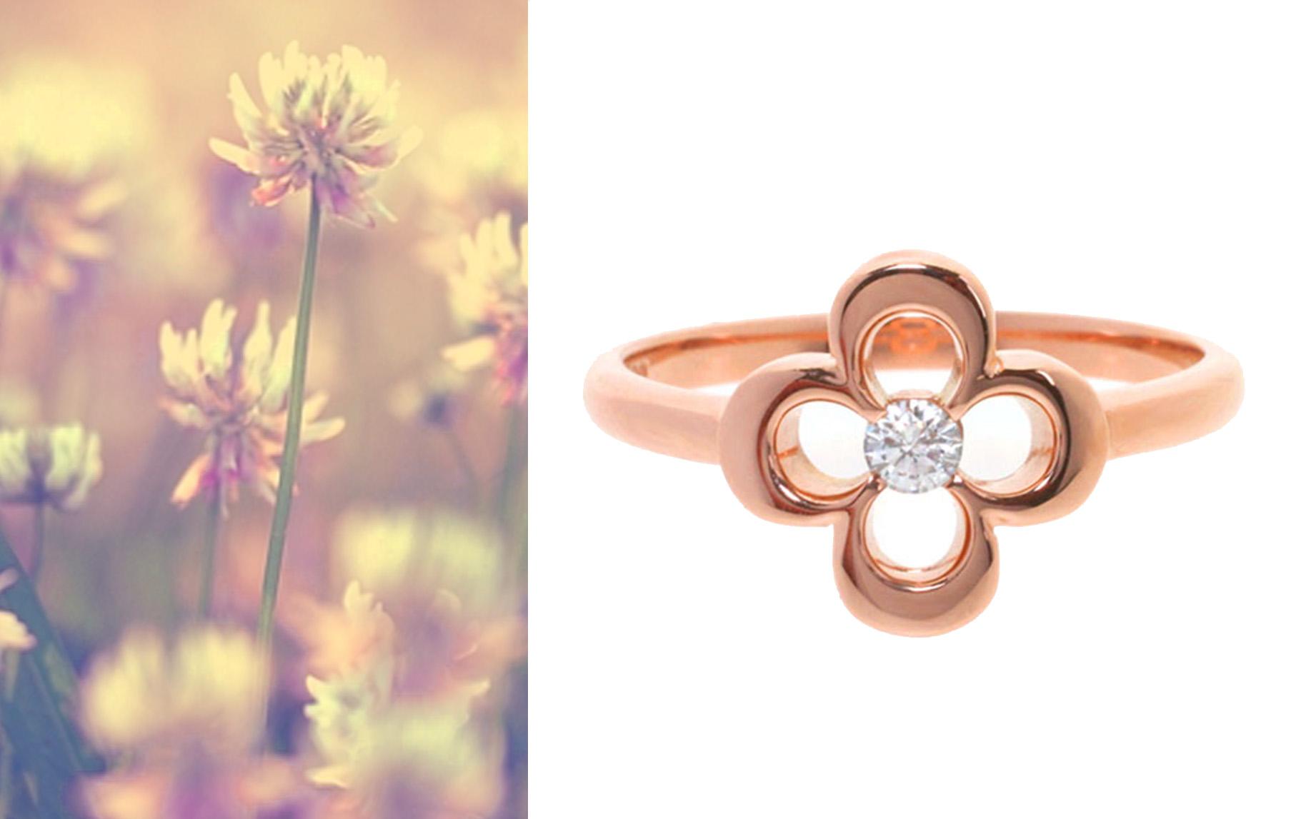 Bespoke Jewellery - Diamond Clover Ring (1)