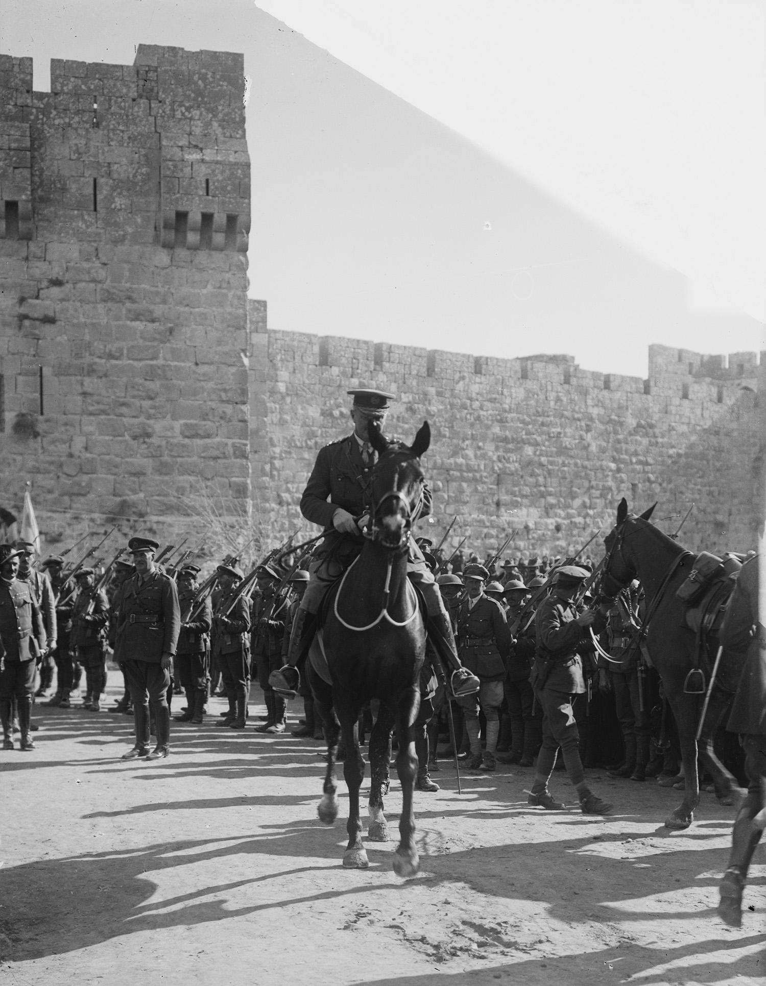 British General Allenby enters Jerusalem.