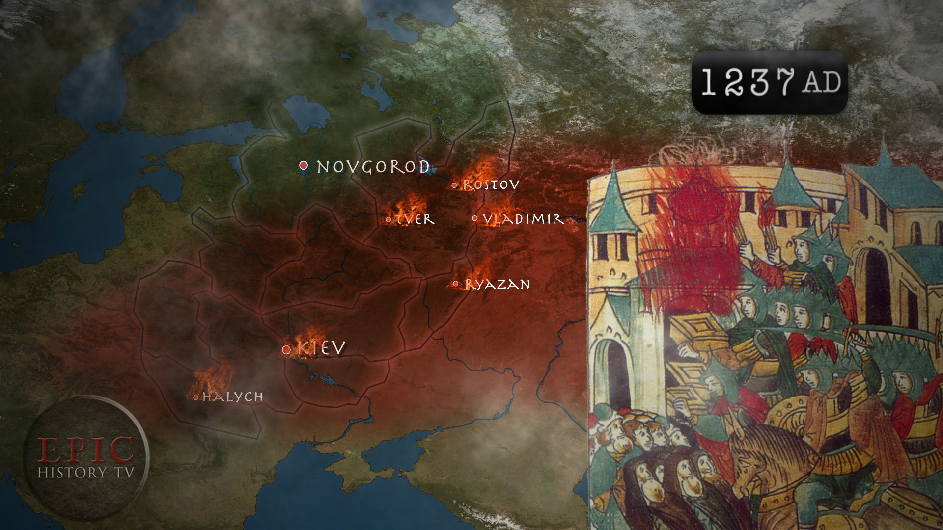 Russian mongol invasion 1237 AD