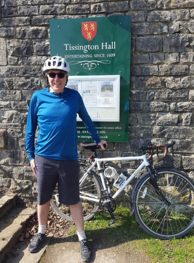 Brian at Tissington Hall, Derbyshire