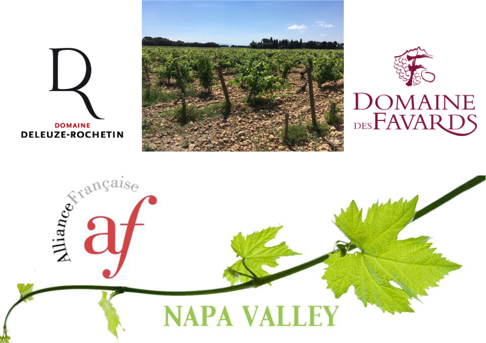 Rhône Valley wine tasting - Thursday, May 9th 2019 - 6.30pm - 8pm at The Good Life Wine Collective Annex, 25 Enterprise Ct, Napa, CATasting specifically focused on Rhône Valley wines. We'll also touch on the region's history and geography.This tasting is specifically for the Alliance Française of Napa Valley members but guests are welcome.Two producers will be put forward, Domaine des Favards (Plan de Dieu appellation) & Domaine Deleuze-Rochetin (Duché d'Uzès appellation).