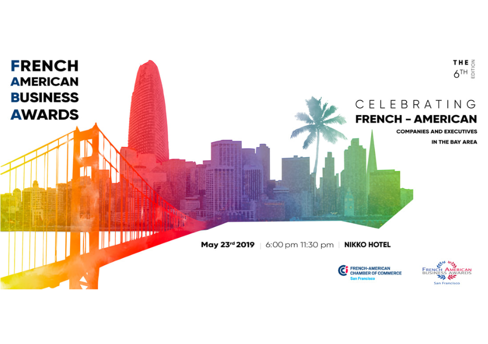 "French American Business Awards - Thursday, May 23rd 2019 - 6pm - 11.30pm at Nikko HotelAs a new business in the Bay Area, La Cave will participate in the competition - come & support + taste some wine!""What are the FABA? The event of the year bringing together the French-American Business community of Northern California! During an upscale dinner celebration, the best French-American entrepreneurs, executives, and companies based in the San Francisco Bay Area will be honored for their annual results and lasting performance in management and leadership.Get inspired by the success stories of the nominees, recognize their outstanding achievements and celebrate with us!"""