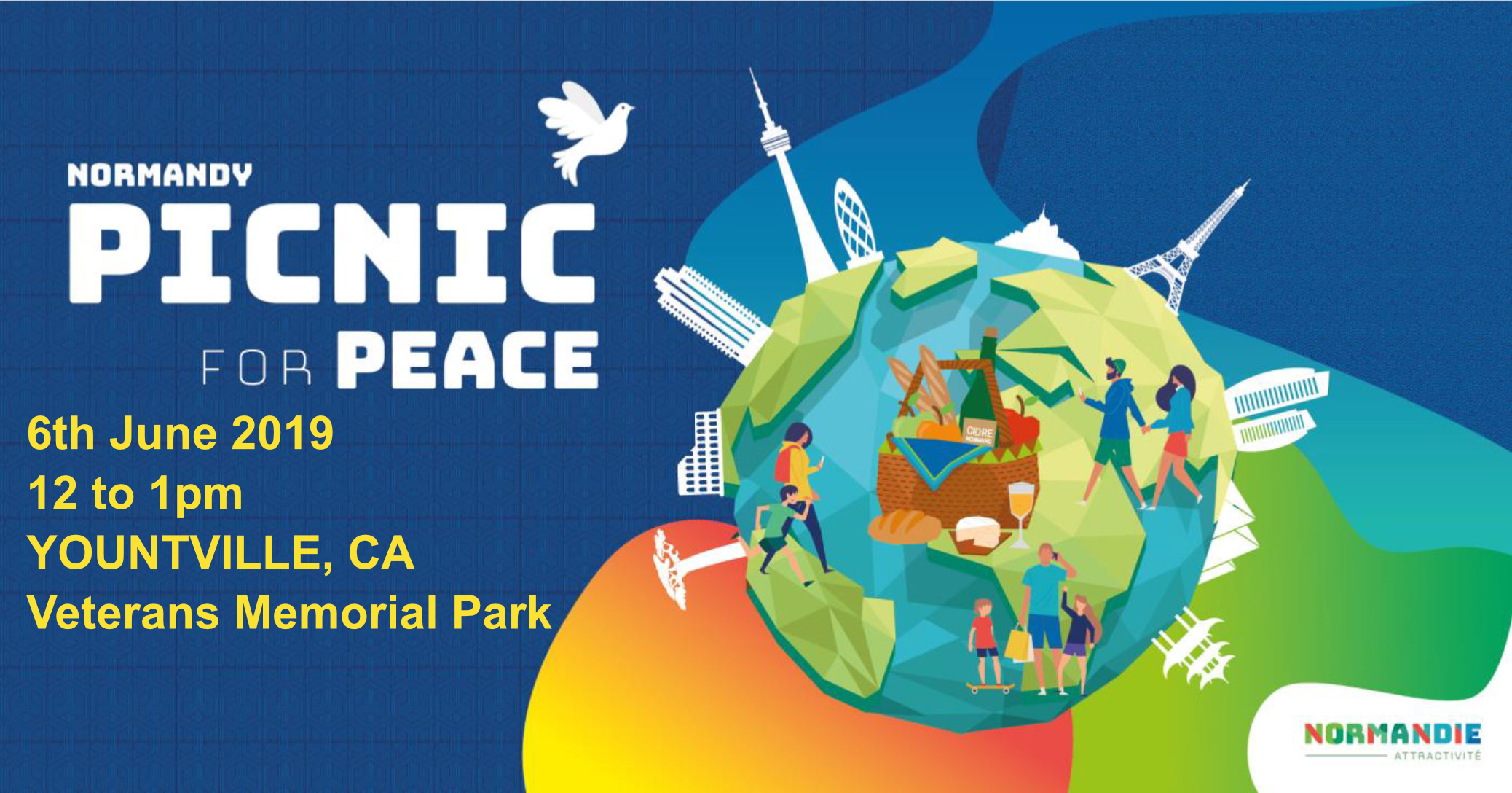 Picnic For Peace - Thursday, June 6th - 12pm - 1pm at Veterans Memorial Park, Yountville, CAJoin us for a casual