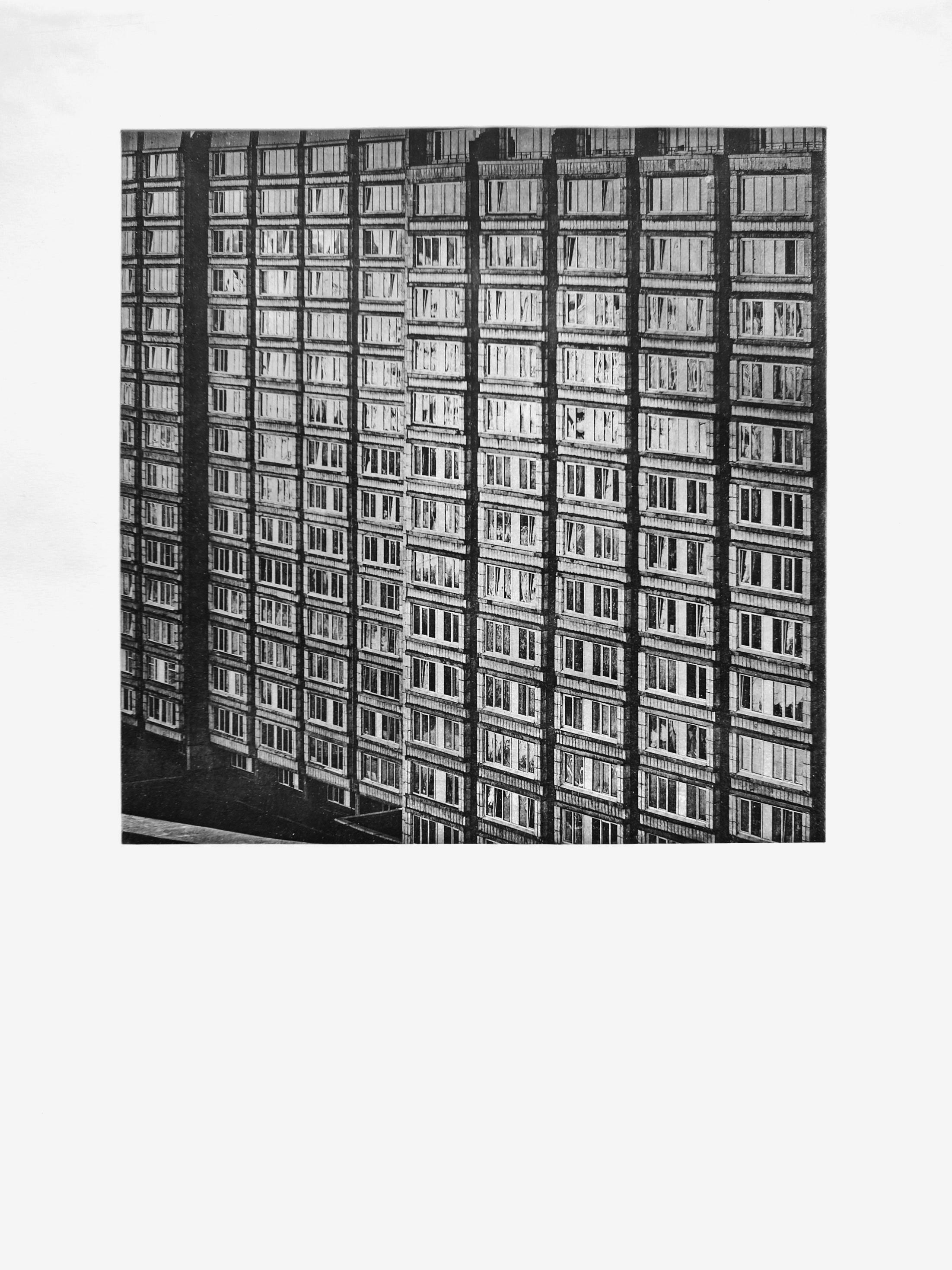 Der Bau ii (2017)  medium: Heliogravüre  size: 60 x 80 cm  paper: Zerkall 270 g/qm  plate: 44 x 44 cm  edition: 11 copies  numbered: 1/7 - 7/7, 4 e.a.  printer: FWU