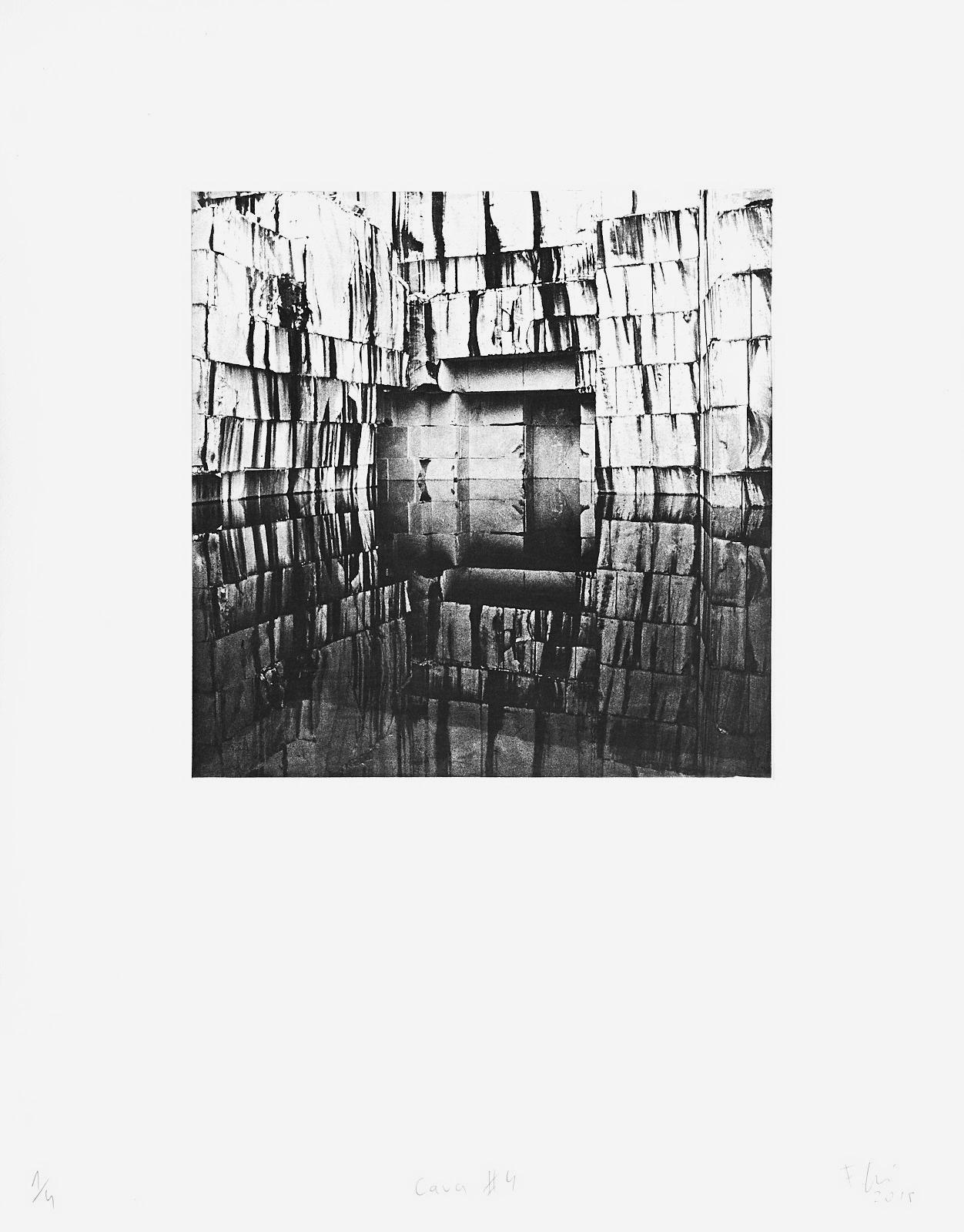Cava #4 (2018)  medium: Photogravure  size: 36 x 46 cm  paper: Zerkall 270 g/qm  plate: 21.5 x 21.5 cm  edition: 7 copies  numbered: 1/4 - 4/4, 3 e.a.  printer: FWU