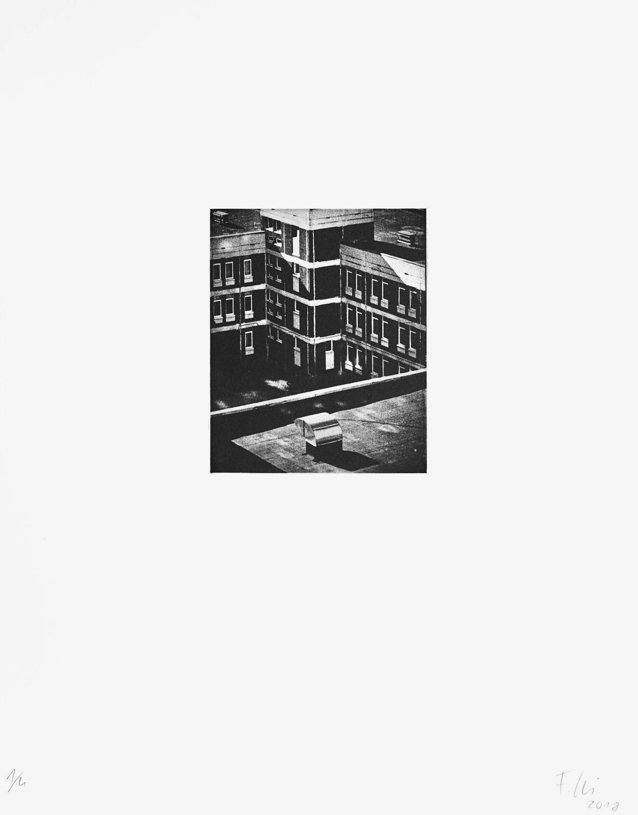 o.T.[Typologien#7]  (2018)  medium: Photogravure  size: 36 x 46 cm  paper: Zerkall 270 g/qm  plate: 11.7 x 14.7 cm  edition: 6 copies  numbered: 1/4 - 4/4, 2 e.a.  printer: FWU