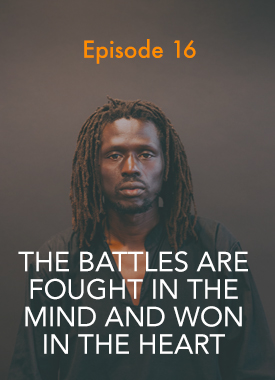 Before becoming a world renowned hip-hop sensation and activist, Emmanuel Jal grew up as a child soldier in what is now known as South Sudan. He joins us this week to talk about his childhood, how music provided an important platform for his cause, and Kanye West.  [Episode 16 Transcript]