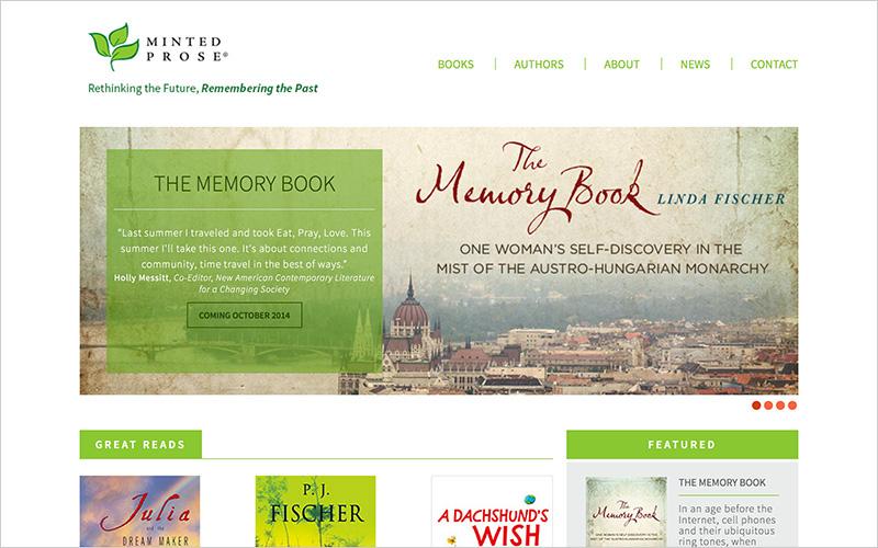 CLIENT Minted Prose, Book Publisher   PROJECT Website   SERVICES Web Design, Production Design