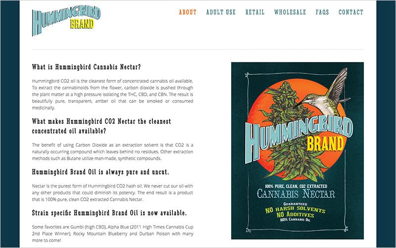 CLIENT Hummingbird Brand, Oil Concentrate   PROJECT Website   SERVICES Web Design & Development