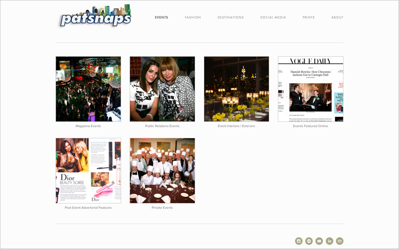 CLIENT Patsnaps    PROJECT  Website portfolio and online shop   SERVICES   Web Design Consulting & Instruction